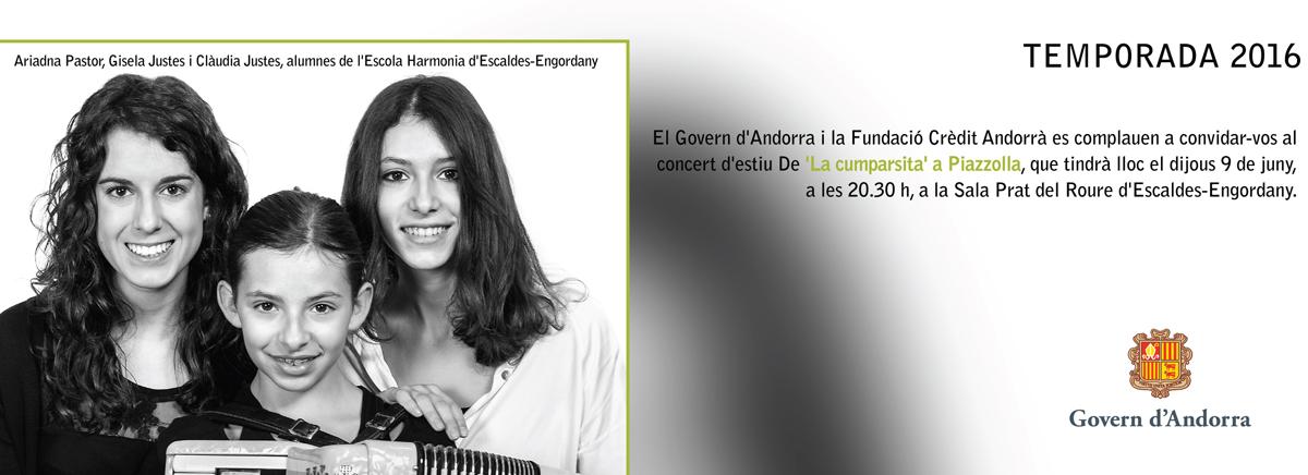 """Concert d'estiu De """"la cumparsita"""" a Piazzolla', a càrrec de l'ONCA"""