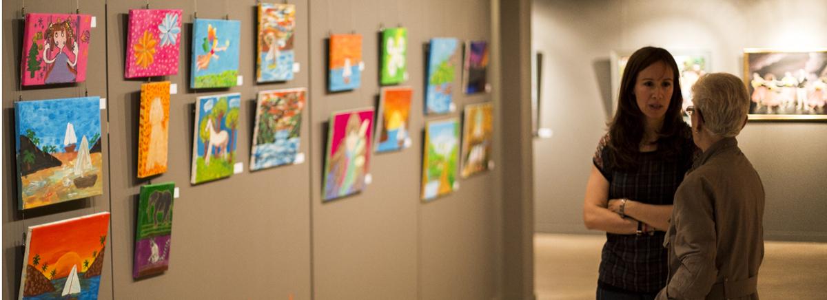 Exposició dels alumnes dels espais d'art comunals al CAEE