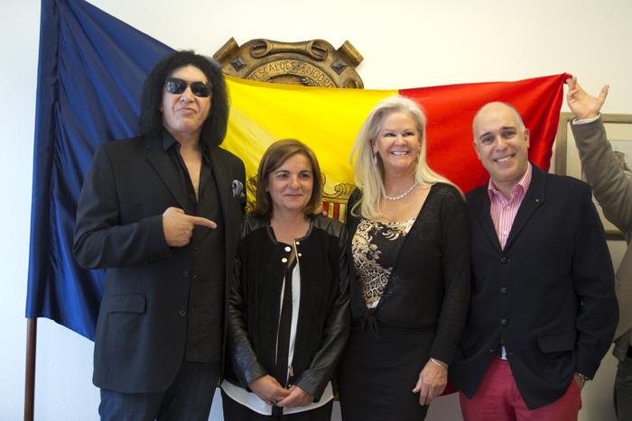 Gene Simmons visita Escaldes-Engordany